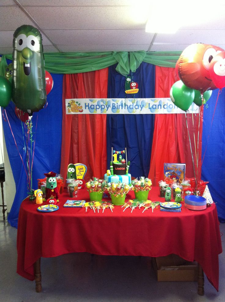 "Veggie tales!! Check out my Facebook page!! At ""Becky's cakes and ideas"""