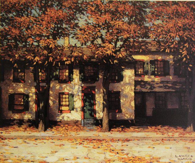 Lawren S. Harris - Houses Richmond Street (1911)