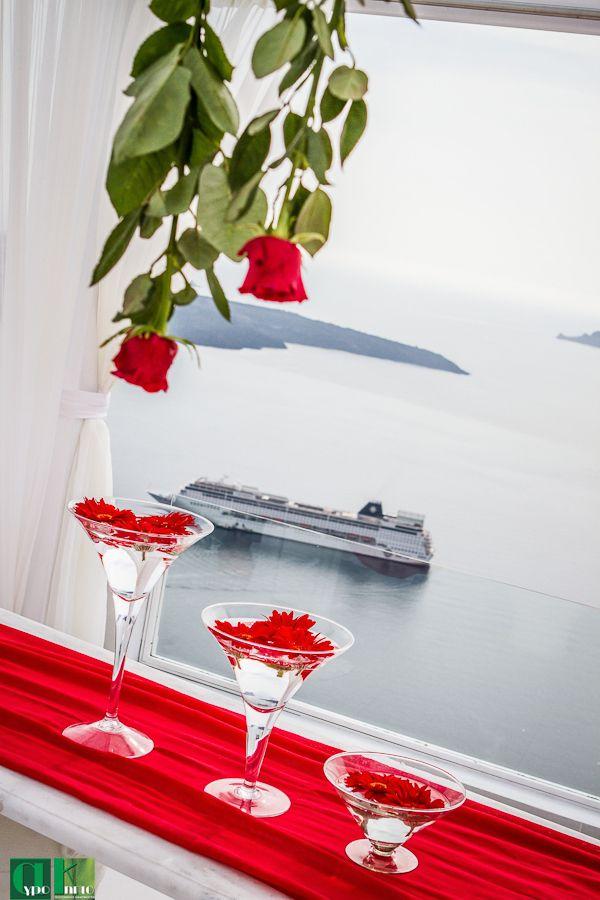 13 best Santorini Wedding Reception Real Weddings images on