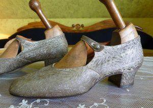 Clark Goldlamé Flapper Schuhe, 1920iger Jahre