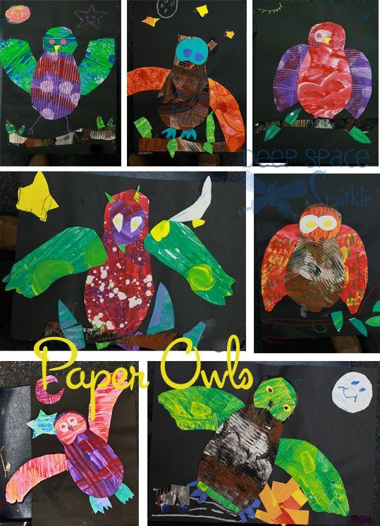 Paper-owl-Art-Lesson