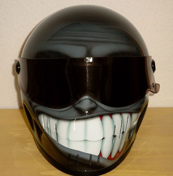 15 Cool and Creative Motorcycle Helmet Designs Love the teeth on this one