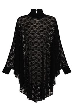 Necessary Evil Gothic Lydia Lace Drape Dress