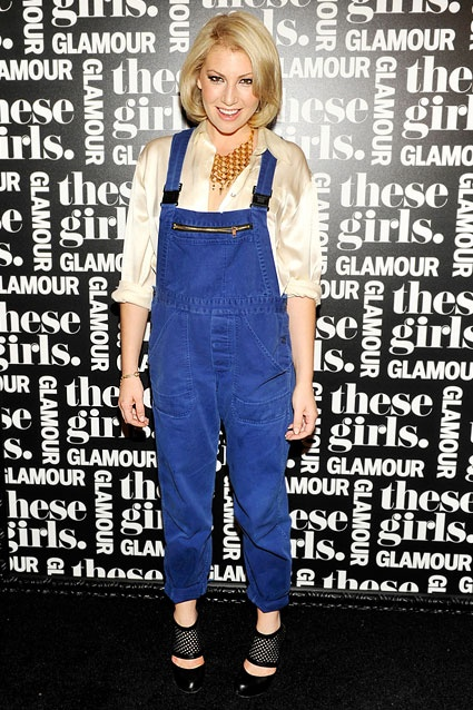 Country Bumbkin?    Ari Graynor attends Glamour's These Girls event at Joe's Pub on October 8, 2012 in New York City. Is the dressed-up overalls look make for a sexy country gal, or is this outfit worse than a root canal?