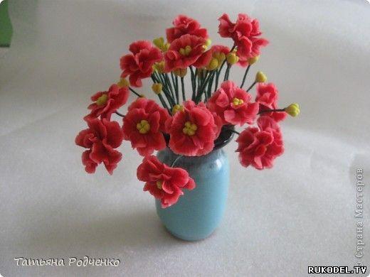 Мастер класс лепка цветка фиалки из холодного фарфора - Цветы из полимерной глины - Полимерная глина - Каталог статей - Рукодел.TV