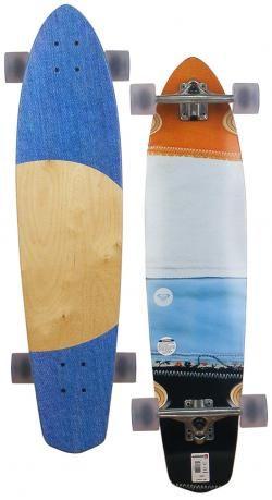 Roxy Stitch Longboard Skateboard - Clear For Sale at Surfboards Etc (4910704)