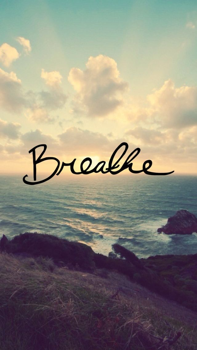 Breathe - iPhone wallpaper @mobile9 | #text #font #quotes
