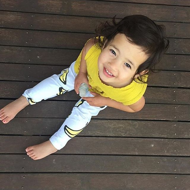 Thank god it's Friday tomorrow as we have gone 'bananas'. Thanks for sharing with us @siennaandme you are looking super cute in your @iloveminti tights. Shop Little Styles range www.littlestyles.com.au #iloveminti #onlineshopping #sienna #bananas #fridaytomorrow #funky #tights