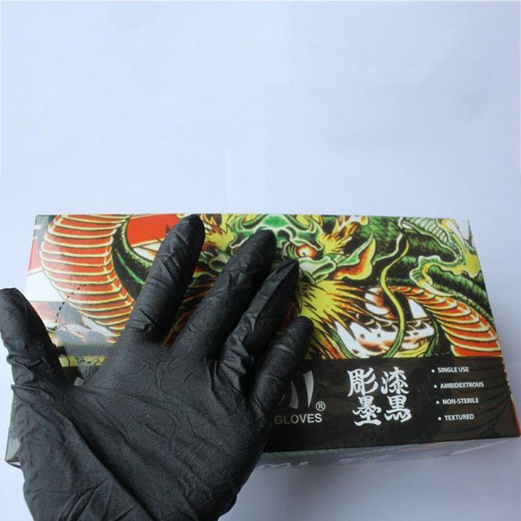 50pairs Kuro Sumi Black Nitrile Gloves