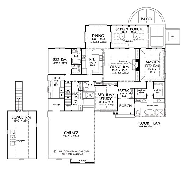 105 best images about floor plans on pinterest french for Country ranch house plans with basement