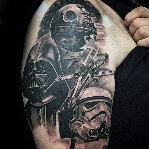 Top 101 Star Wars Tattoo Ideas 2020 Inspiration Guide Star Wars Tattoo Star Wars Tattoo Sleeve War Tattoo