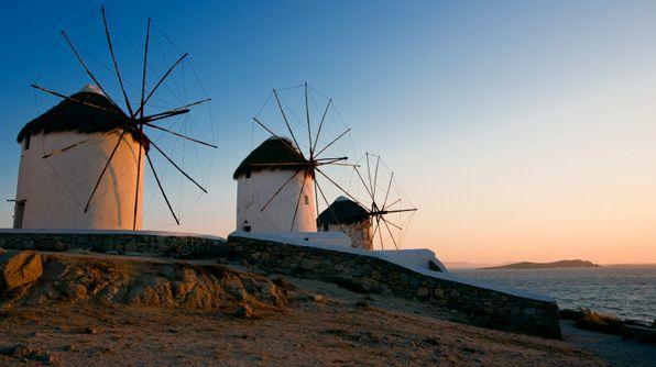 *w*: Expedia Wanderlust, Mykonos Expediawanderlust, Favorite Places, Changing Horizon, Greek, Sunrise Sunset, Endlessly Changing, Famous Windmills, Beautiful Locations