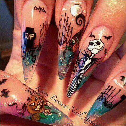 Totally awesome halloween nails!!!!