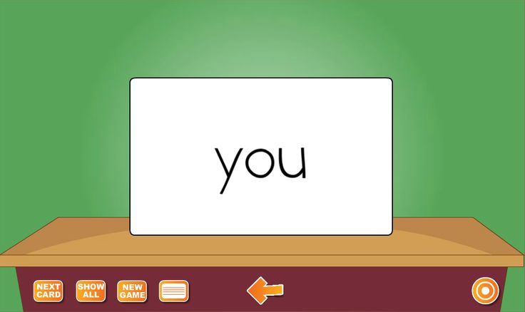 "Sight Words Flash Cards helps your students memorize the 220 Dolch service words and the 95 nouns commonly known as sight words. The can be displayed manually or automatically. Students can study pre-primer, primer, first grade, second grade, third grade, nouns A-G, and nouns H-Z lists or any combination. In the example, the word ""you"" is display and said."