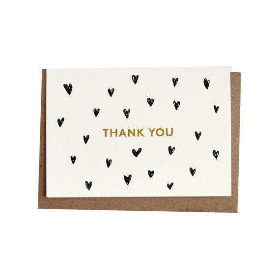 THANK YOU / Greetings card w/ envelope