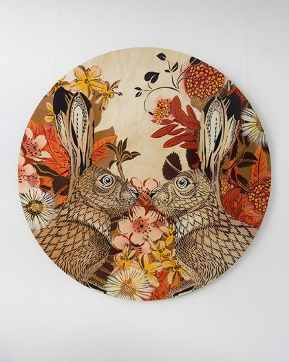 AUTUMN BUNNIES | 1.2m Round Commission | Flox.co.nz