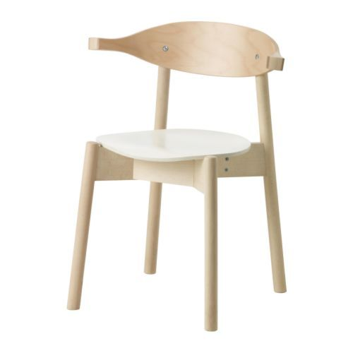BOJNE Chair with armrests IKEA Can be hung with the armrests on the table top; makes cleaning easy.