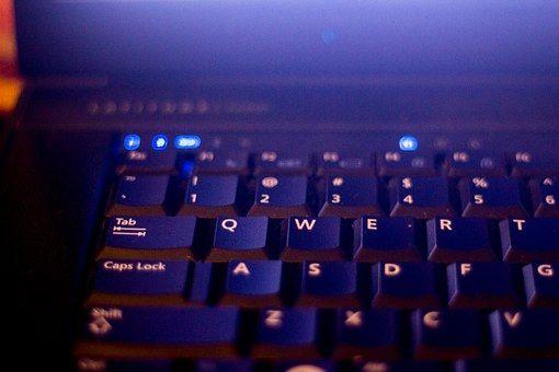 Laptop, Számítógépes, Billentyűzet