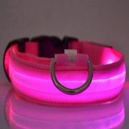 Κολάρο σκύλου με φωτισμό LED - Ροζ