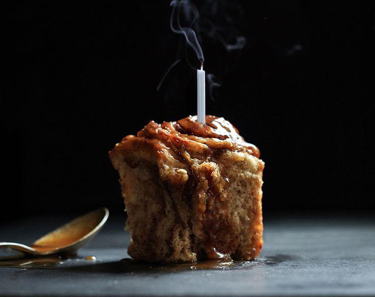 pumpkin cinnamon rolls with chai buttermilk glaze