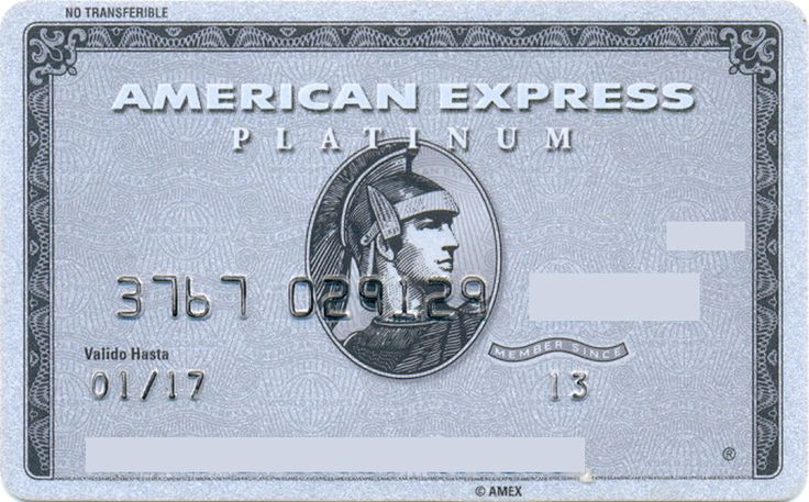 American Express Platinum (American Express, Mexico) Col:ME-AE-0020