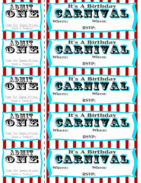 Best 25 Carnival party invitations ideas – Free Printable Carnival Birthday Invitations