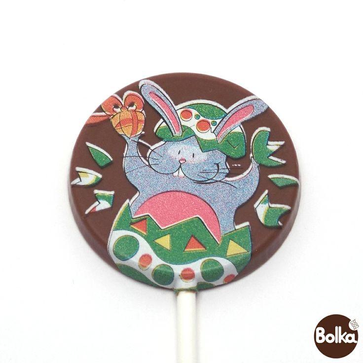 Chocolate lollipop/csokoládé nyalóka (húsvét/Easter)