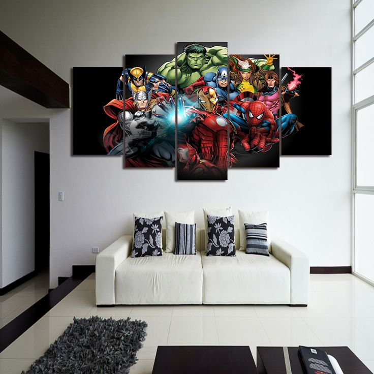 HD Printed Comics Avengers Painting Canvas Print room decor print poster picture canvas Free shipping/ny-2915 #Affiliate