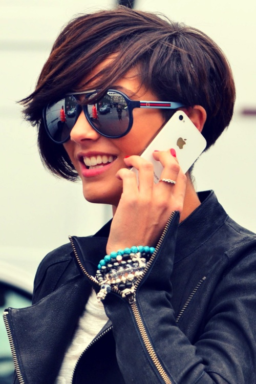 Frankie Sandford - short hair, too cute