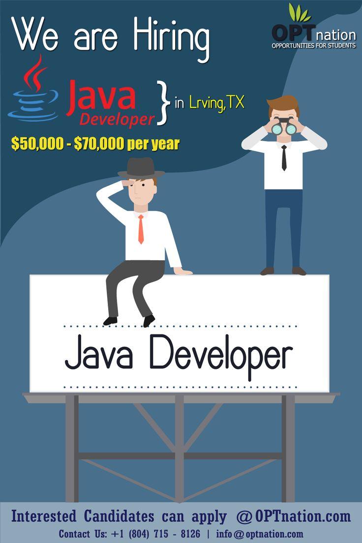 Java Developer in 2020 International students, Student