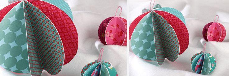 Créez des boules de Noël en papier avec Wesco Family