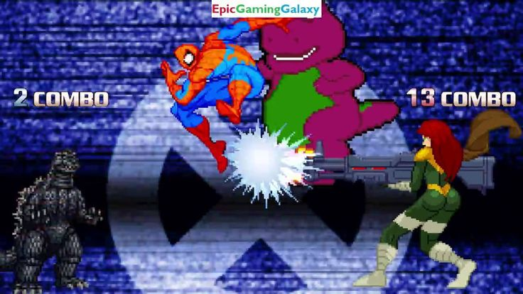 Hope And Spider-Man VS Godzilla And Barney The Dinosaur In A MUGEN Match / Battle / Fight This video showcases Gameplay of Spider-Man The Superhero And Hope Summers The Superheroine VS Godzilla And Barney The Dinosaur From The Barney & Friends Series In A MUGEN Match / Battle / Fight