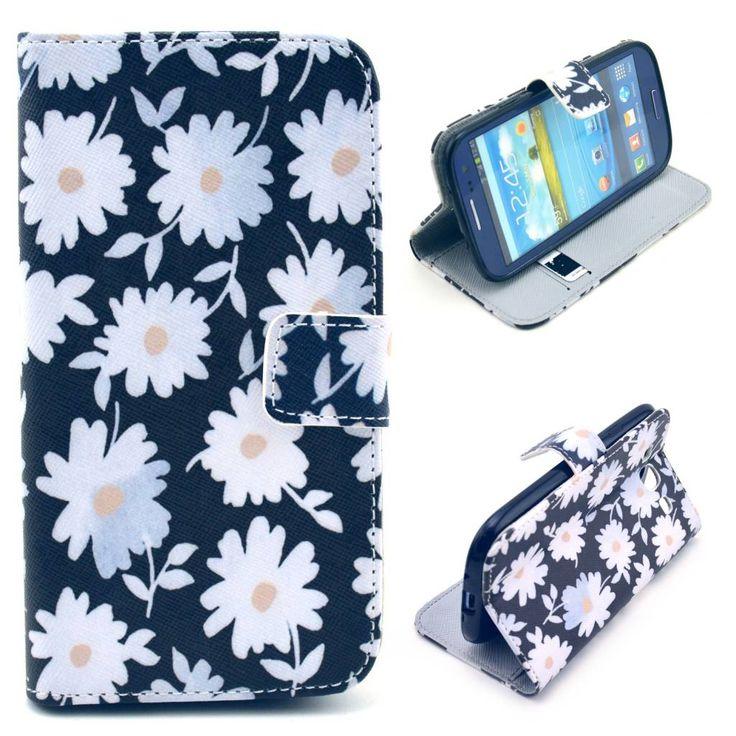 Chrysanthemum bloemen bookcase voor Samsung Galaxy S3