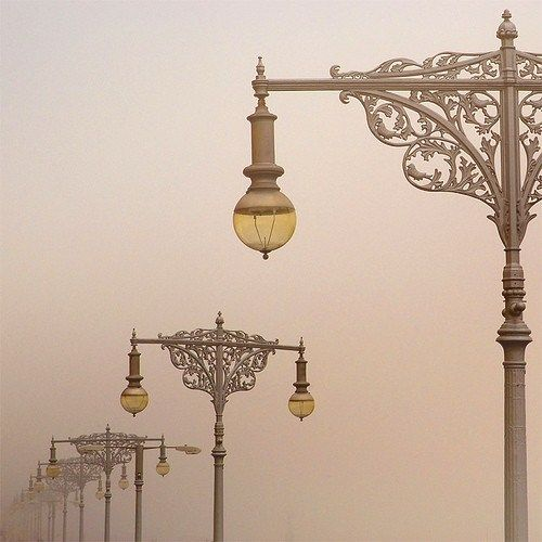 Ornate lampposts