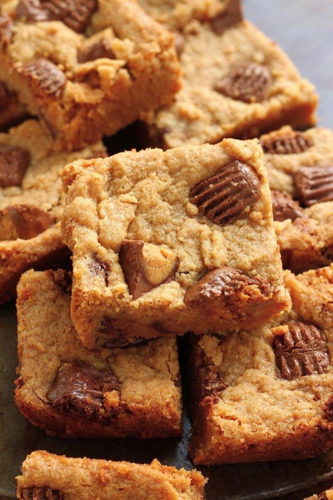 5-Ingredient Vegan Peanut Butter Blondies - soft and chewy peanut butter blondies made with only 5 ingredients!