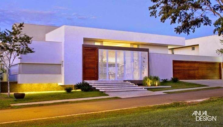 Fachadas de casas com escadas na frente veja entradas for Casas modernas brasil