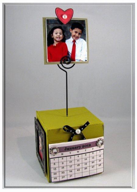 2012 Calendar Photo Cube