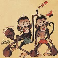 Boxing monkeys