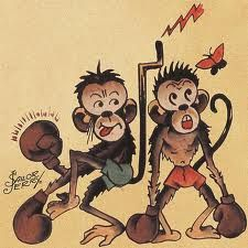 Boxing monkeys