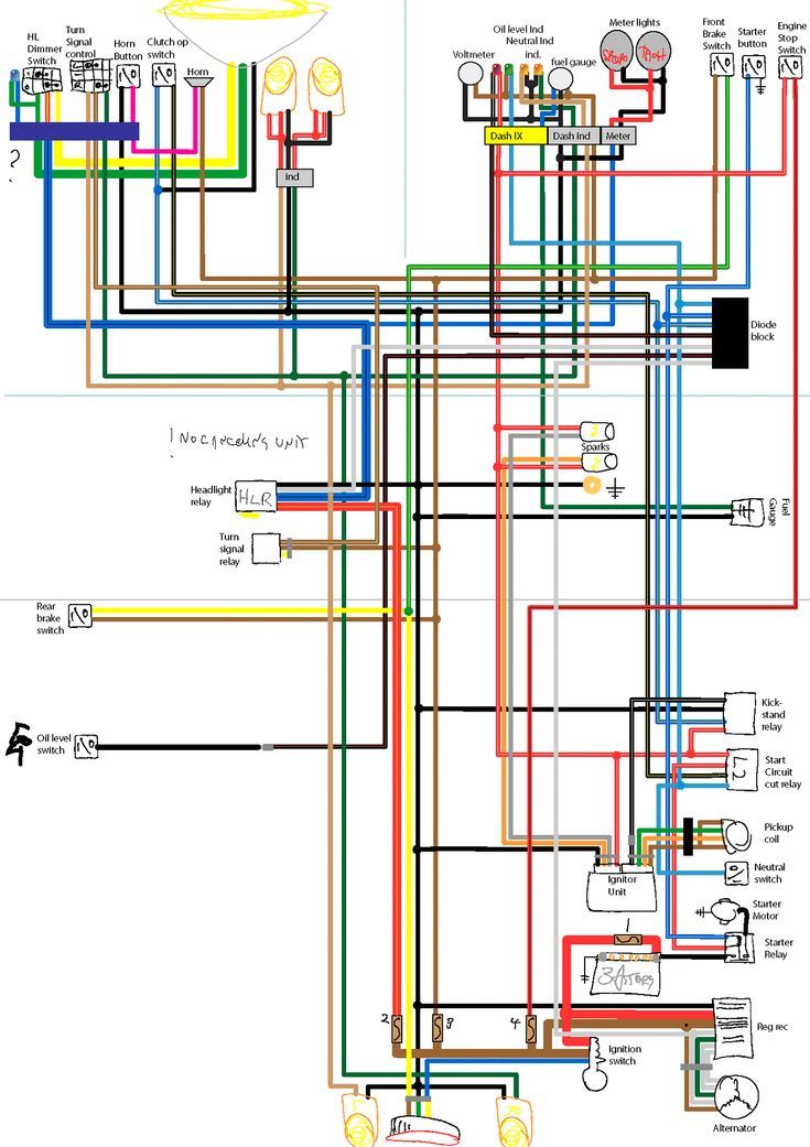 Click this image to show the fullsize version | Wiring Diagram | Ducati cafe racer, Motorcycle