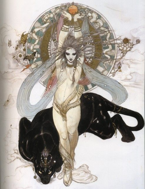 Organic Forms and Whiplash Curves - If you mix Klimt, Rackham and Mucha, what will you get?