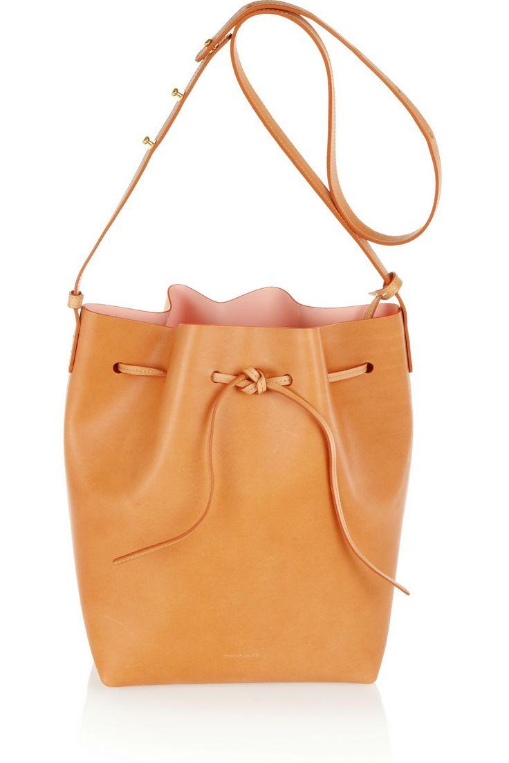 Mansur Gavriel Leather bucket bag NET-A-PORTER.COM // leather bucket bag is IT for the Spring! #prettyeasy