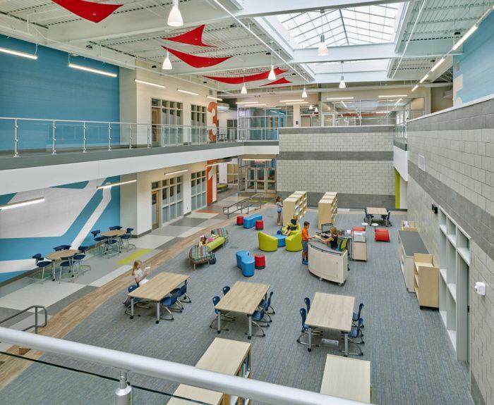 Elementary School Common Area Elementary Schools 21st Century Learning Spaces Elementary School Education