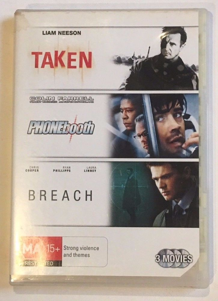 Triple Feature 3 DVD SET - Taken,  Phonebooth and Breach