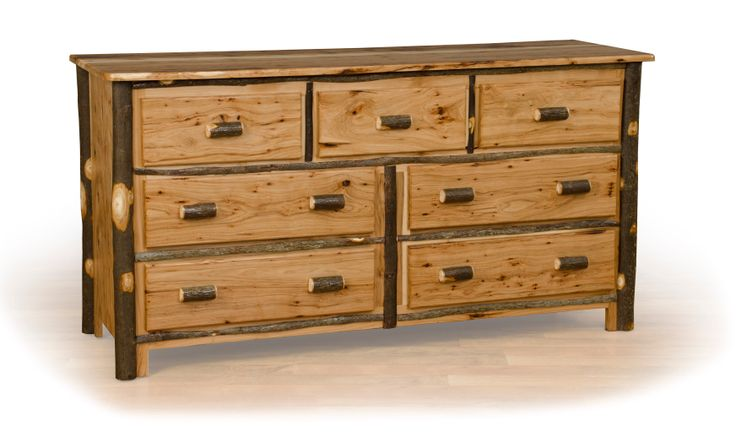 Rustic Hickory Oak 7 Drawer Bedroom Dresser Great Rustic Country Decor For A Mountain Lodge