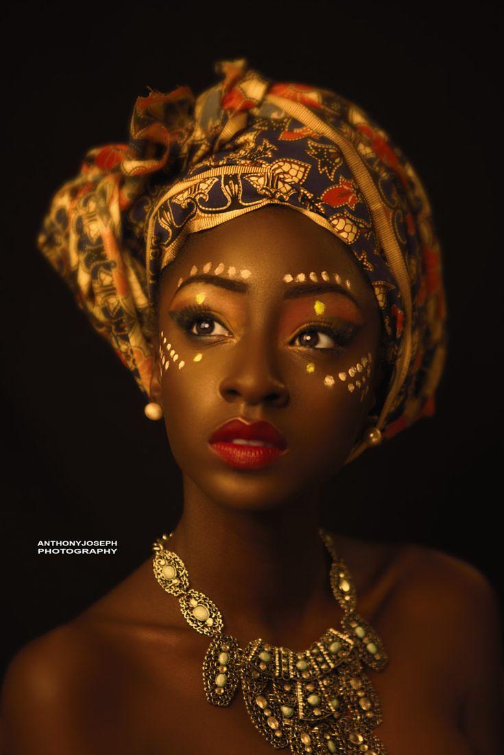 African makeup african hair african goddess african style african -  Golden African Queen Anto Joseph 500px