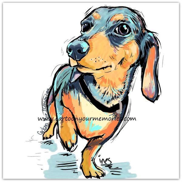 Little Dachshund – Cartoon Your Memories
