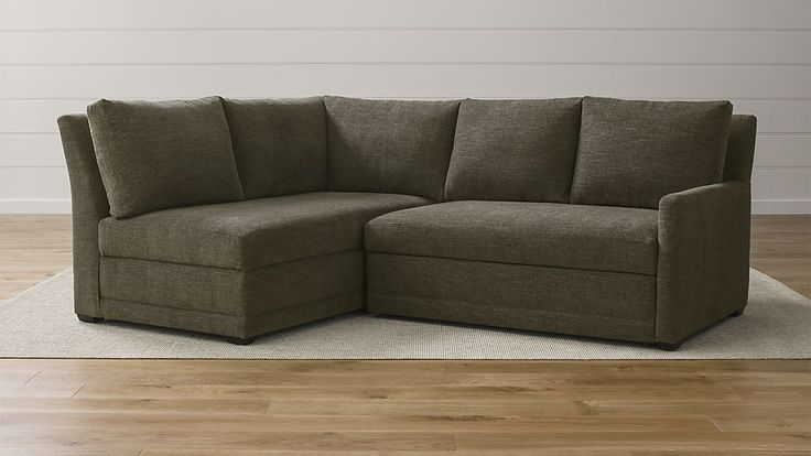 Reston 2-Piece Sleeper Sectional Sofa ~ Crate and Barrel
