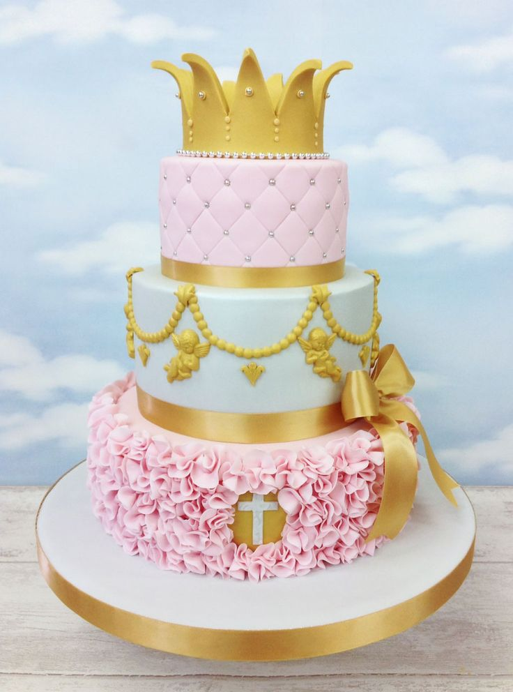Beautiful Royal Baby Shower Cake For Girl.