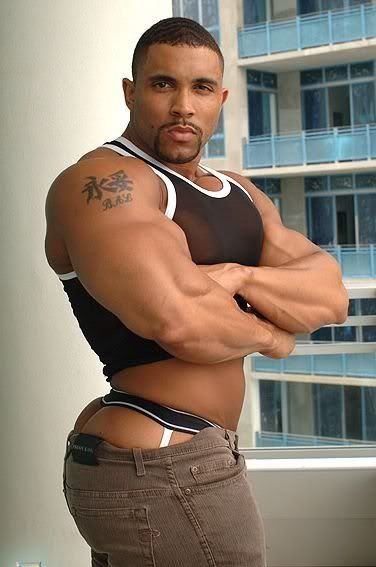 Black gay muscle ass